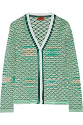 Missoni Crochet Knit Cardigan Green