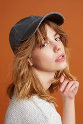 Anthropologie Carly Baseball Cap Black
