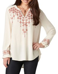 Democracy Embroidered High Low Tunic
