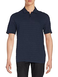 Saks Fifth Avenue Slub Jersey Polo Shirt Navy