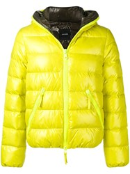 Duvetica Hooded Down Jacket Yellow