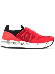 Premiata Liz Var Sneakers Women Leather Polyester Rubber 41 Red