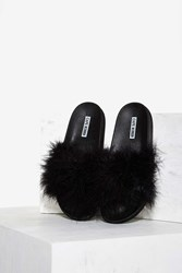 Fair Feather Friend Slide Sandal Black