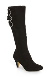 Bella Vita Women's 'Transit Ii' Knee High Boot Black Suede Wide Calf