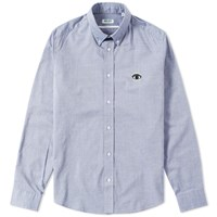 Kenzo Button Down Small Eye Shirt Blue