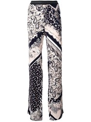 Just Cavalli Elasticated Waistband Printed Trousers Black