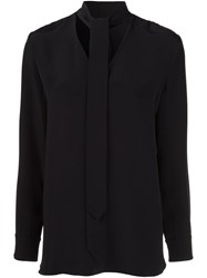 Edun Neck Tie Blouse Black