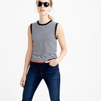J.Crew Cotton Jackie Shell With Neon Tipping