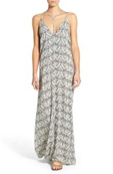 Women's Sun And Shadow Strappy Print Maxi Dress