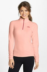 The North Face Women's 'Glacier' Quarter Zip Pullover Freesia Orange