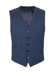 Alexandre Of England Pick And Pick Tailored Fit Waistcoat Navy