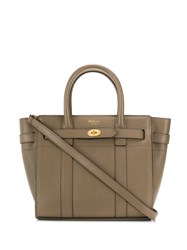 Mulberry Mini Zipped Bayswater Tote Brown