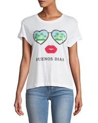 Wildfox Couture Buenos Dias Graphic Cotton Tee White