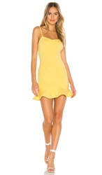 Privacy Please Oakwood Mini Dress In Yellow. Canary Yellow