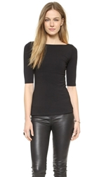 Susana Monaco U Back Top Black