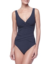 Karla Colletto Criss Cross One Piece Swimsuit