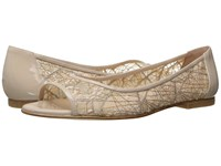 French Sole Noir Beige Chagall Mesh Patent Leather Women's Flat Shoes