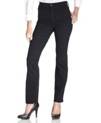 Nydj Marilyn Straight Leg Jeans Black Wash