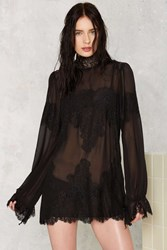 Nasty Gal Hot As Hell Queen For A Day Sheer Dress