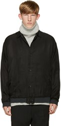 Robert Geller Black Cupro Shirt