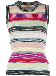 Missoni Glitter Stripe Sleeveless Top Black