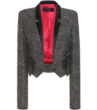 Haider Ackermann Cropped Virgin Wool Blend Blazer Black