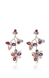 Eden Presley Flower Vine Earrings Blue