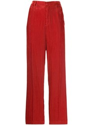 Forte Forte High Waisted Trousers Red