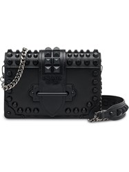 Prada Cahier Studded Bag Black