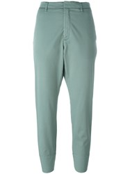 Hope Folded Hem Cropped Trousers Green
