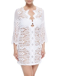 Miguelina Elliot Crochet Tunic Coverup