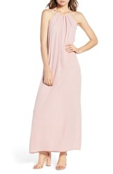 Everly High Neck Maxi Dress Dusty Pink