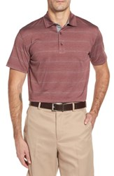 Bobby Jones Men's R18 Tech Static Stripe Polo Oxblood
