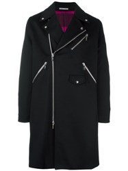 Christian Dior Homme Double Breasted Coat Black