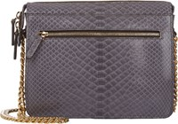 Zagliani Python Liberty Shoulder Bag Grey