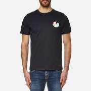 Paul Smith Ps By Men's Chest Logo Crew Neck T Shirt Navy Blue