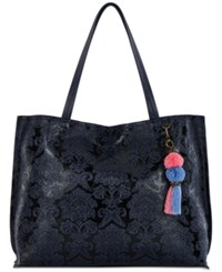 The Sak Vista Extra Large Tote Created For Macy's Indigo Floral Emboss