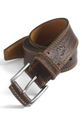 Men's Big And Tall Trask 'Gallatin' Belt Bourbon Bison