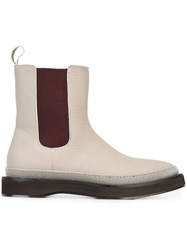 Brunello Cucinelli Pull On Ankle Boots Nude And Neutrals