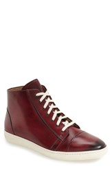 Mezlan Men's 'Marsala' High Top Sneaker Burgundy