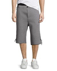 Public School Mayu Neoprene Sweat Shorts Gray Black