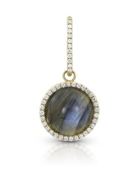 Dominique Cohen 18K Gold Labradorite And Diamond Pendant