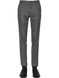 Dolce And Gabbana 16.5Cm Stretch Wool Prince Of Wales Pant