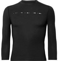 Under Armour Athlete Recovery Compression Printed Stretch Modal Top Black