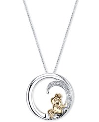 Disney Ariel Crystal Pendant Necklace In Sterling Silver