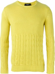 Ports 1961 Cable Knit Sweater Yellow And Orange