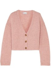 Red Valentino Redvalentino Cropped Knitted Cardigan Pink