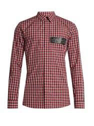 Givenchy Checked Cotton Shirt Red Multi