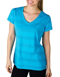 Jockey Burnout Stripe Tee Turquoise