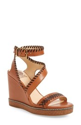 Vince Camuto Women's Ivanta Wedge Whisky Bar Leather